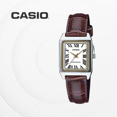 카시오 여성 가죽 빈티지 손목시계 LTP-V007L-7B2
