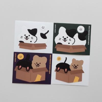 [영이의숲] 박스 프렌즈 리무버블 스티커