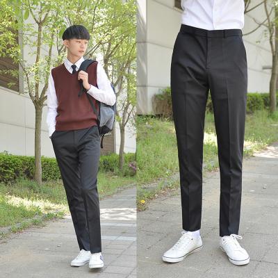 [빅사이즈] 스판 블랙 교복바지(남자) ~6XL