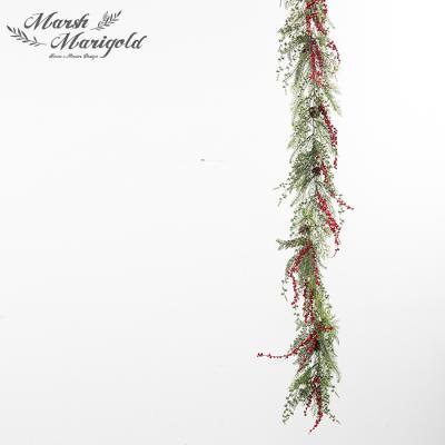 빨간열매 그린잎 믹스 가랜드2 FM375-0564