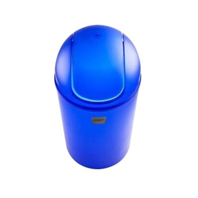 시스맥스 회전형 휴지통 - 블루