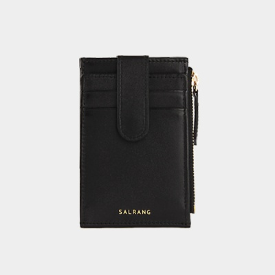 Dijon 201S Flap mini Card Wallet black 디종 플랩 미니 카드 월렛 블랙