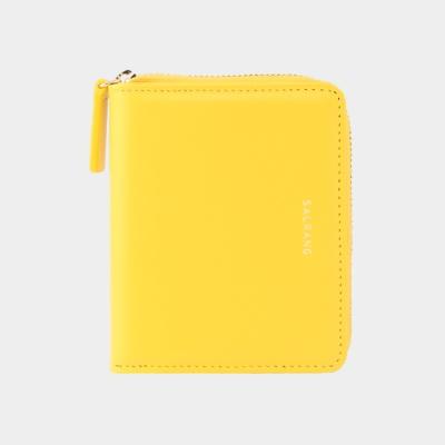 Dijon 301 Layer ZIpper Wallet lemon yellow 디종 지퍼 월렛 레몬옐로우