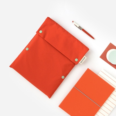 Two button book pouch_Flame orange