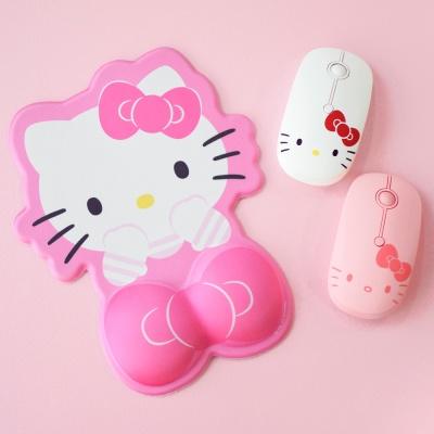 헬로키티 저소음 무선마우스+손목보호패드ver.3세트