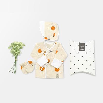 [메르베]귤귤 아기 출산선물세트(저고리+모자+손싸개)