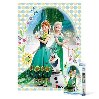 100피스 직소퍼즐 - 겨울왕국 안나와 엘사 (큰조각)