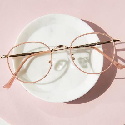 shine 핑크 동그란 안경 금속테안경 메탈안경 패션