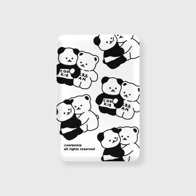 Cookie cream pattern-white(무선충전보조배터리)