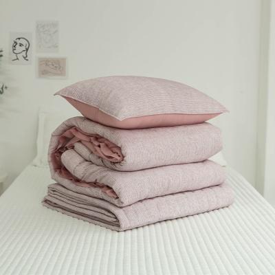마이크로 모달 프릴 차렵이불 베개 패드-핑크
