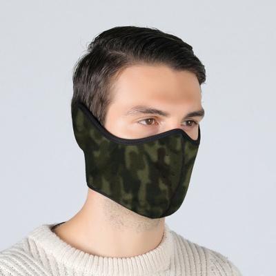 양면 귀마개 방한 마스크(카모블랙)