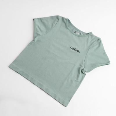 슬림바디 스포츠 크롭 티셔츠(민트) (S)