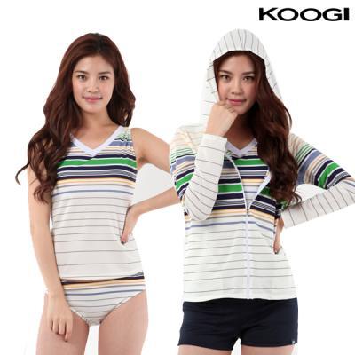 쿠기 여성 비치 수영복 KF-H218