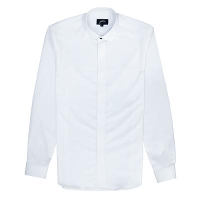 [게타] White hidden button PB shirt