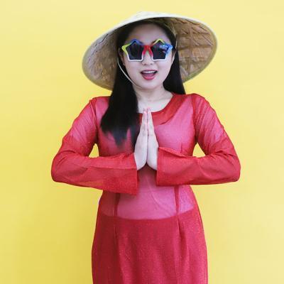 베트남 아오지 의상 L (레드)