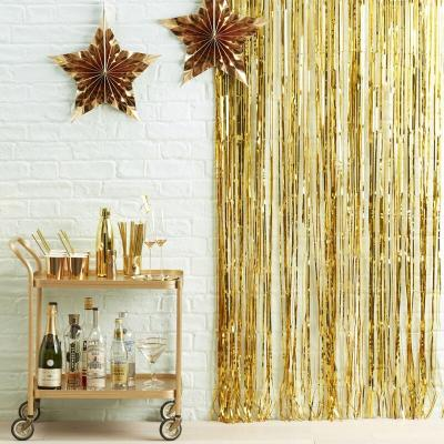유광골드 파티커튼 Gold Foil Fridge Party Curtain