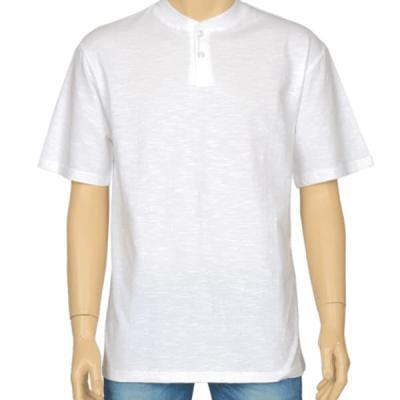 남성 여성 여름 데일리 반팔 티셔츠 헨리넥 슬라브