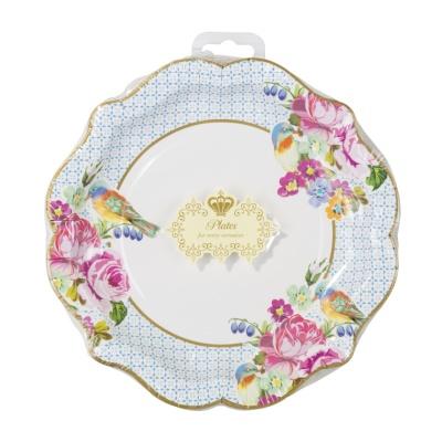 [TT] 티파티 꽃무늬 종이 접시 12개 - 프리티