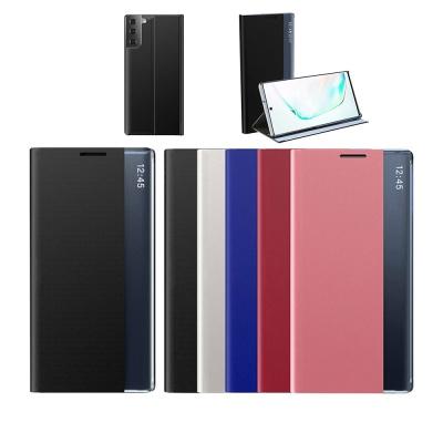 아이폰13 pro max 미니 스탠딩 클리어 뷰 플립 케이스