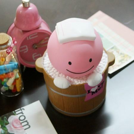 유유 목욕시간 저금통 - 핑크
