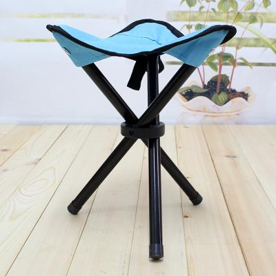 (와인앤쿡)실속형야외용 접이식 삼각발 레저의자