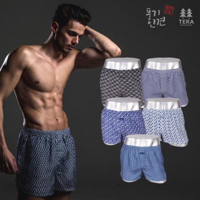 테라우드 풍기인견 직기트렁크 남자팬티 5종세트