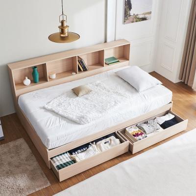 러블리 책장 서랍형 침대SS+7존독립 매트리스 포함