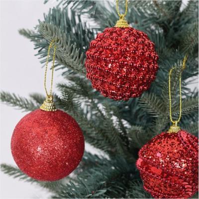 큐빅볼 6cm 10입 레드/ 크리스마스 트리