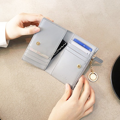 D.LAB Coin Card wallet  - Gray