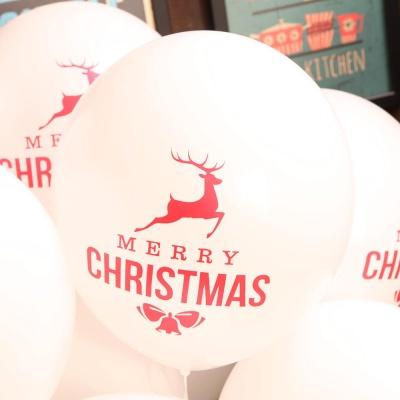 크리스마스풍선30cm - 루돌프(화이트)