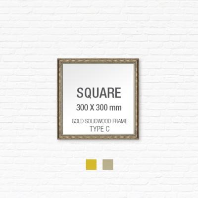 [골드원목프레임] 골드 액자 Type C - 정사각형 30X30