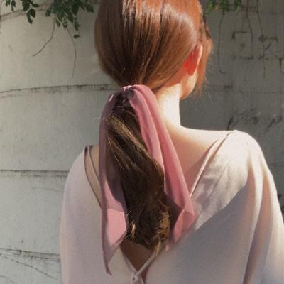쉬폰 롱 곱창 머리끈