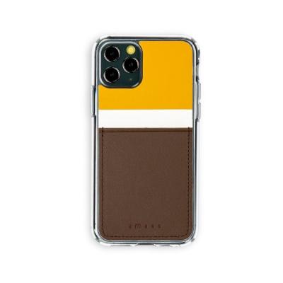 스매스 아이폰11프로 보호 카드케이스 씨원_옐로우/브라운