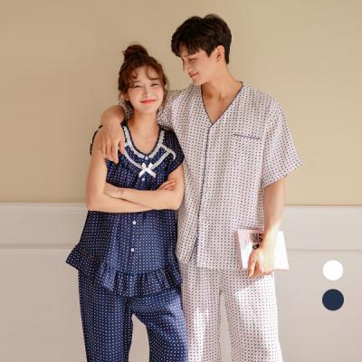 [쿠비카]인견 커플 투피스 잠옷 WM182