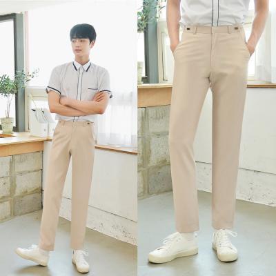 [하복][허리조절] 스판 연베이지 교복바지(남자)