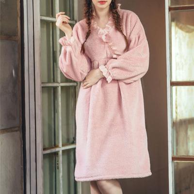 Angel 사선 레이스 수면잠옷 롱원피스잠옷