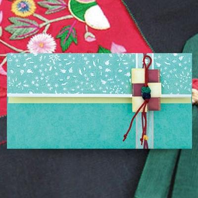 사각보 꽁알매듭 전통 용돈봉투 FB217-3