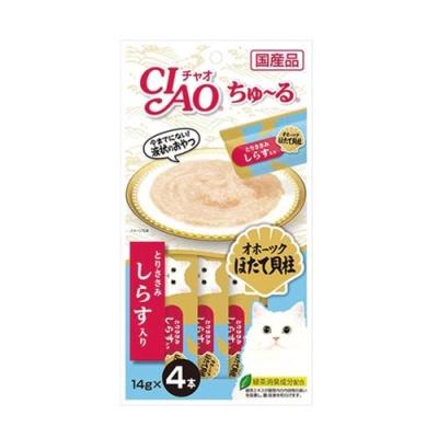 CIAO 츄루 (조갯살+닭가슴살+치어) 14gx4개입 (pt)