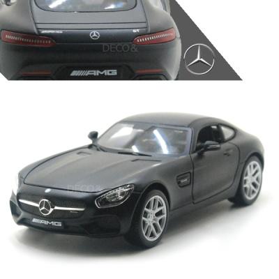 1:24 무광블랙 벤츠 AMG-GT 미니카 모형차