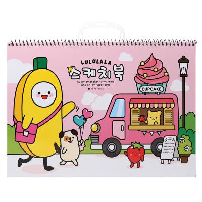 포포팬시 룰루랄라 스케치북 핑크