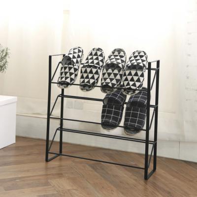 블랙 일체형 오픈 철제 신발장