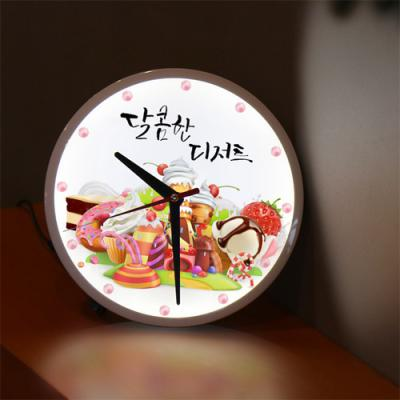 nf225-LED시계액자25R_달콤한디저트