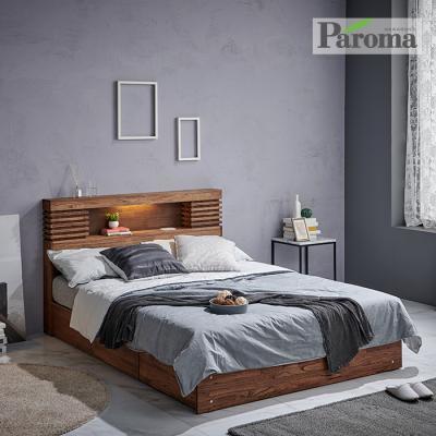 파로마 카르멘 원목침대 수납형 Q GS024