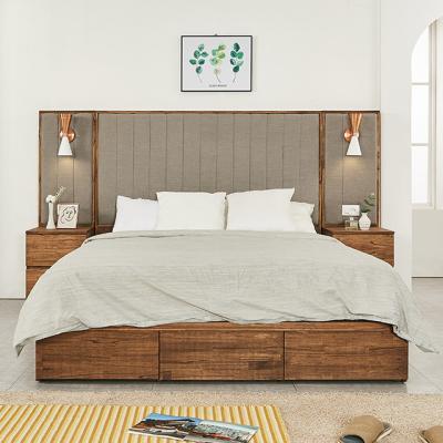 M5112 참죽나무 파스텔패브릭 Q 침대세트