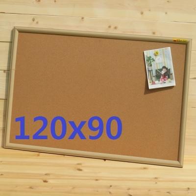 천연콜크를 사용한-국산 미송프레임 콜크 게시판 120x90cm