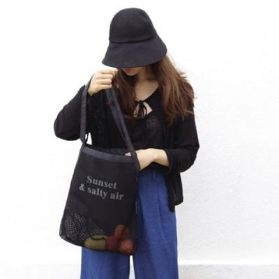 sunset mesh bag - 썬셋 메쉬 백 (블랙)