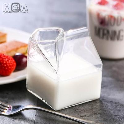 우유곽 글라스 모양 유리컵 밀크글라스 밀크팩
