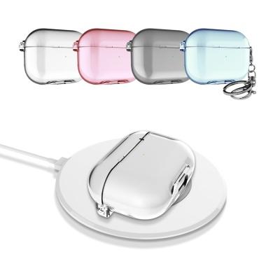 에어팟프로 케이스 솔리드 슬림핏 투명 하드 고리세트