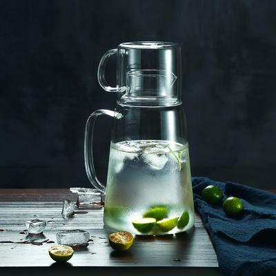 [로하티]유리물병 유리컵 세트/ 내열유리 냉장고물병