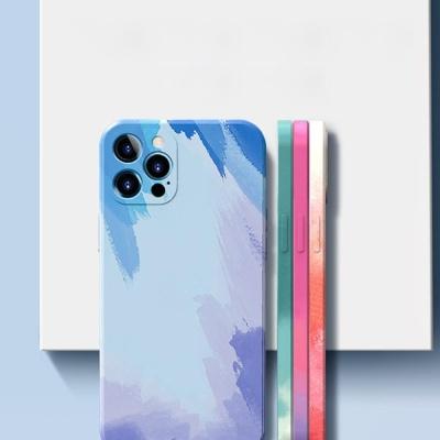 아이폰XR XS MAX X 컬러 수체화 슬림핏 실리콘 케이스